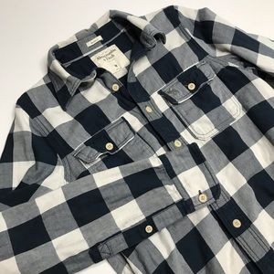 Abercrombie & Fitch Checkered Flannel Muscle Shirt
